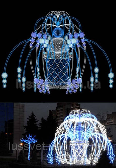 Световая фигура - фонтан  LUMIERE  3D FOUNTAINS  EF023