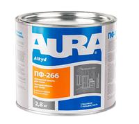 Aura ПФ-266 Красно-коричневая 2,8кг износостойкая эмаль для пола арт.4820140313039
