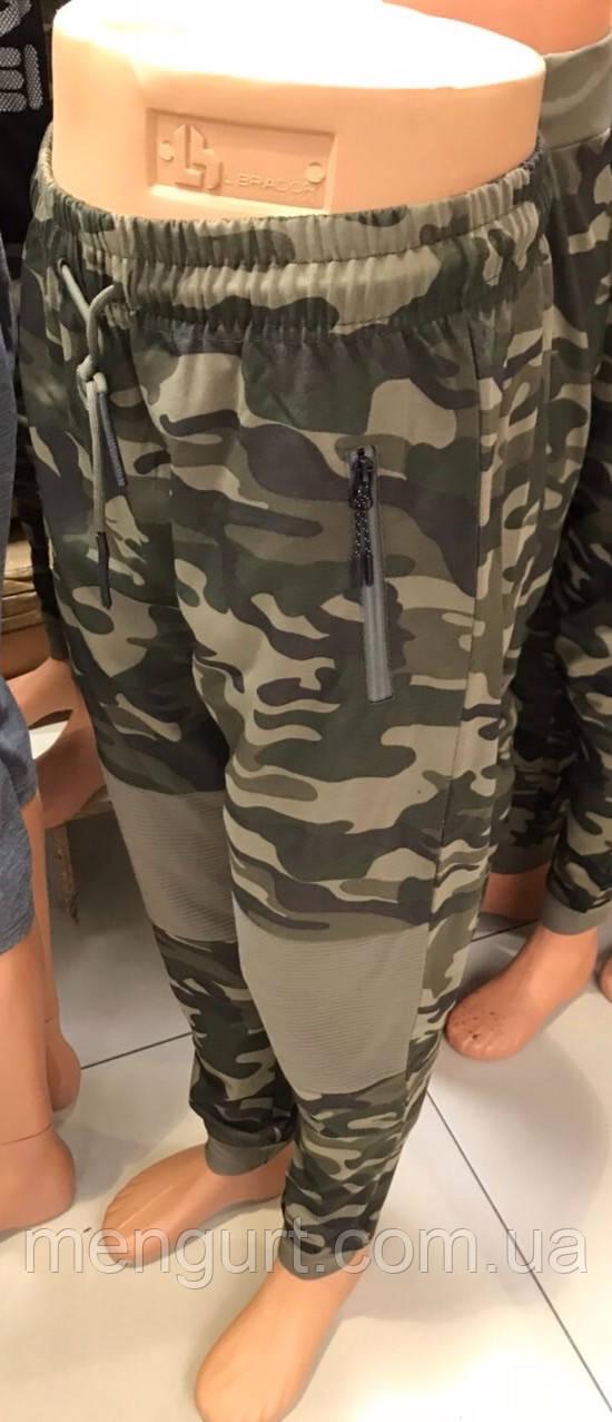 Штаны спортивные молодежные мужские на манжете  милитари камуфляж Польша