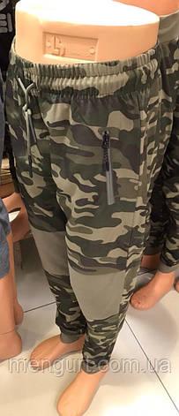 Штаны спортивные молодежные мужские на манжете  милитари камуфляж Польша, фото 2