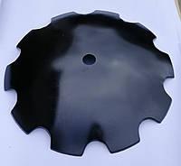 Диск бороны БДТ ромашка 10 лепестков/гладкий D=650 мм,h=6мм, ф 46мм ст30Mnb5