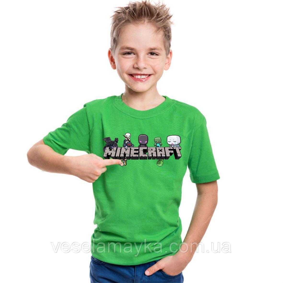 Детская футболка Minecraft 6 (Майнкрафт)