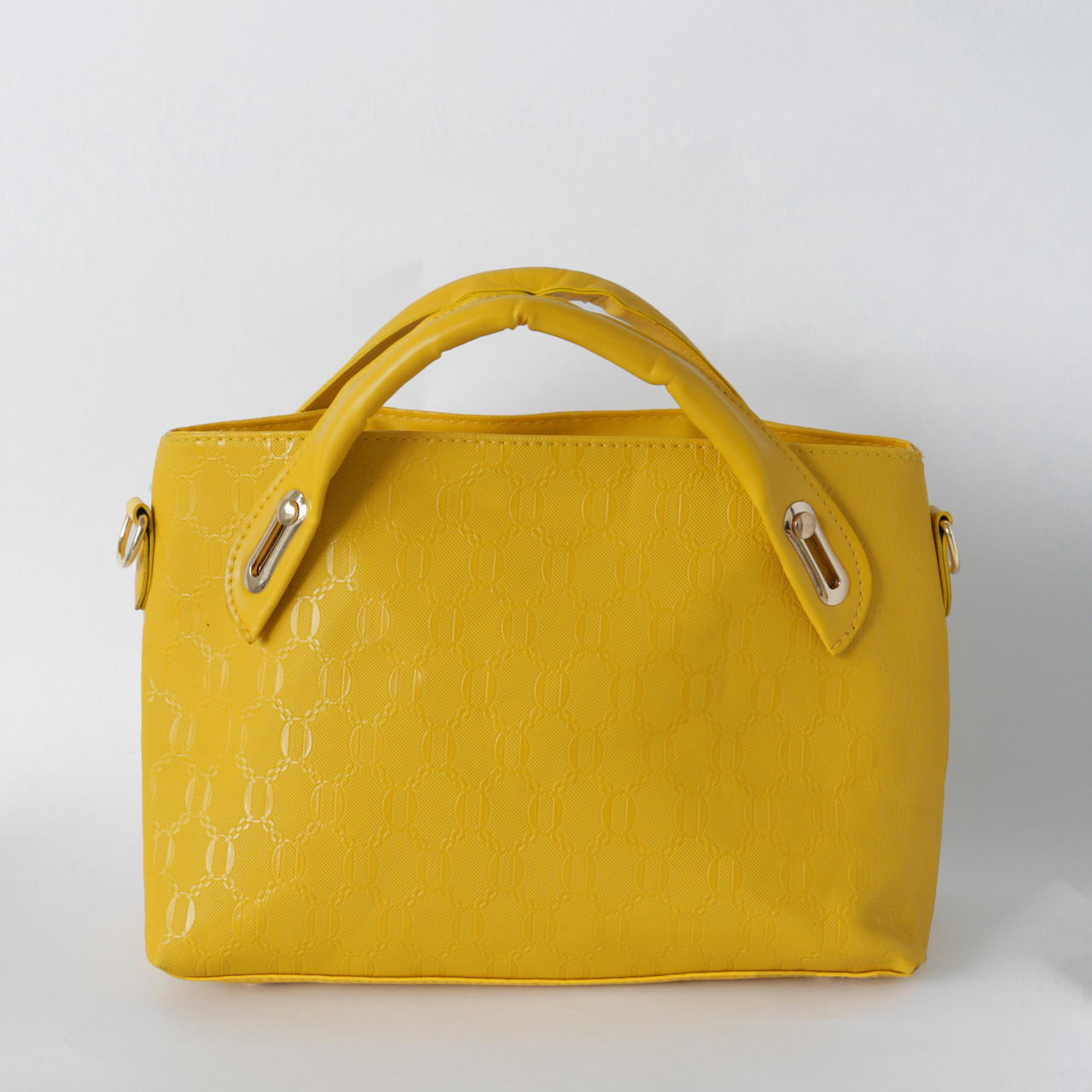 Яркая женская сумка из экокожи желтая, фото 1