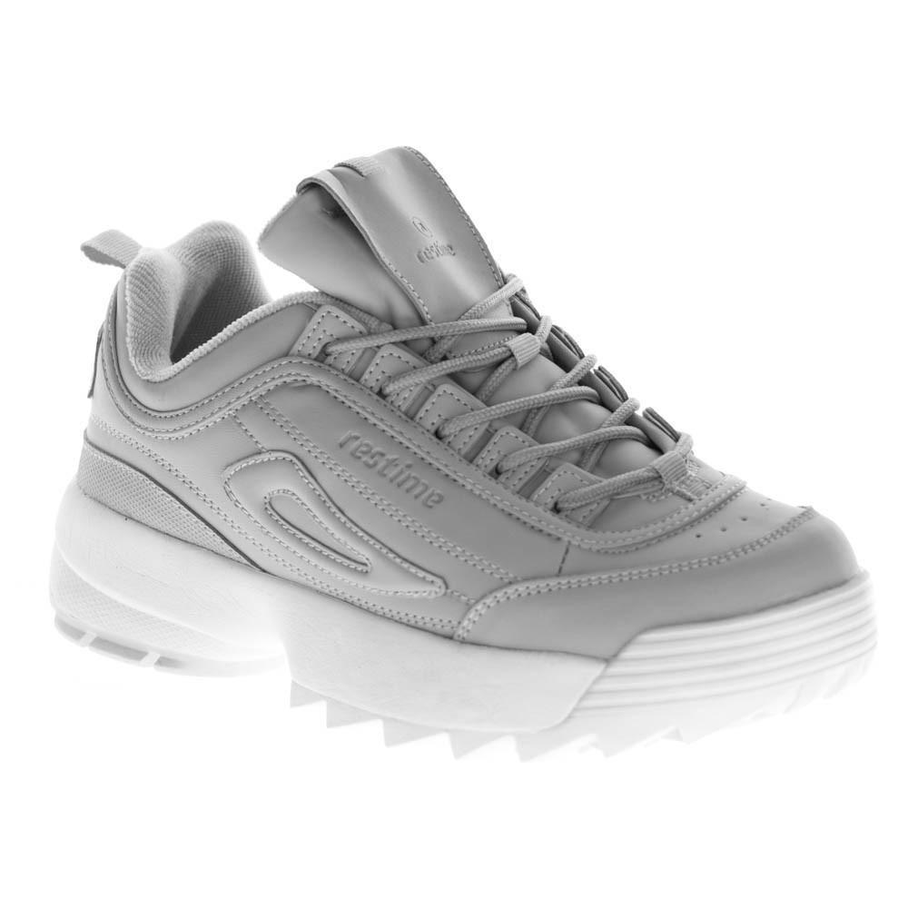 Женские кроссовки Restime Gray-White XWO18106