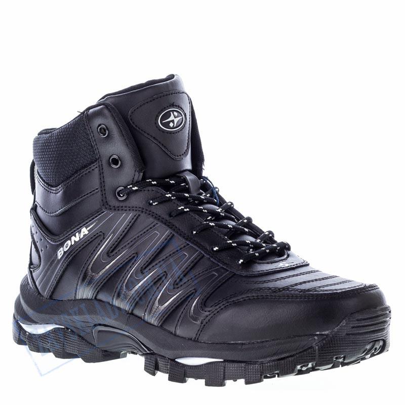 Высокие мужские кроссовки Bona черные BA12