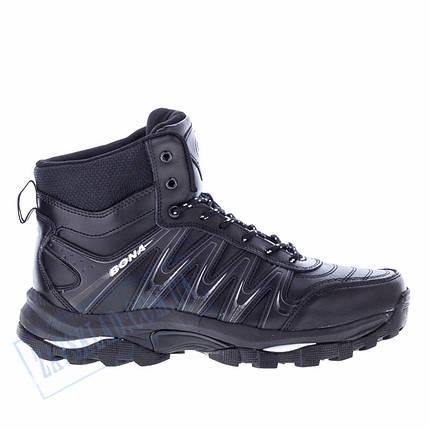 Высокие мужские кроссовки Bona черные BA12, фото 2