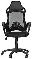 Кресло компьютерное Глория черный пластик, фото 1