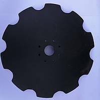 Диск бороны АГ/УДА/ДАН/СТЕП ф650-660мм, ф62мм 6отв. или 8отв., s-6мм ст30Mnb5 ромашка/гладкий