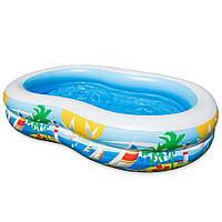 """Надувний басейн intex - """"Райська лагуна"""" 262х160х46 див. (56490), фото 1"""