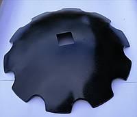 Диск борони ДМТ (Деметра) ромашка/гладкий ф660мм, ѕ6мм, квадрат 70мм ст65г, ст30МпВ5, фото 2