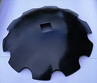 Диск бороны ДМТ (Деметра) ромашка/гладкий ф660мм, s6мм, квадрат 70мм ст65г, ст30MnB5, фото 2