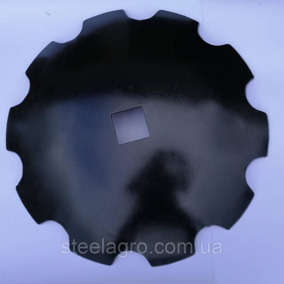Диск бороны ДМТ (Деметра) ромашка/гладкий ф660мм, s6мм, квадрат 70мм ст65г, ст30MnB5