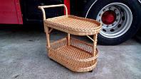 Плетеный сервировочный столик из лозы