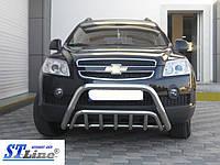 Передняя дуга WT002 (нерж.) Chevrolet Captiva 2006- 2011+ гг.