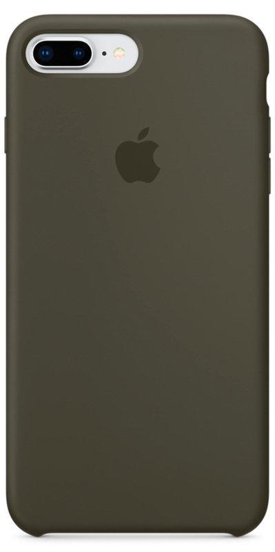 Чохол Silicone Case Apple iPhone 8 Plus/7 Plus (Dark Olive)