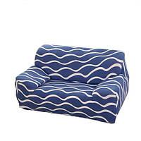 Чехол на кресло диван натяжной Stenson R26299 Blue 90-145 см