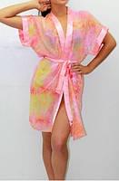 Женский шифоновый халатик Блюз, прозрачные женские халатики, шифоновый халат