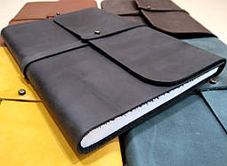 Софт-бук - кожаный блокнот А5 ручной работы от мастерской Wood & Leather