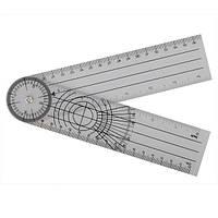 Гониометр линейка ETOPOO для измерения подвижности суставов 380 мм 360°