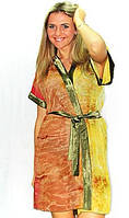 Домашний халат женский оливковый, шифоновый халатик для прекрасных женщин, красивая одежда для дома