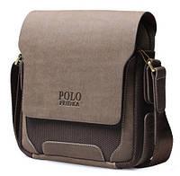 Мужская кожаная сумка. Стильный портфель.  Сумка через плечо. Офисная сумка. Код: КСД10-2.