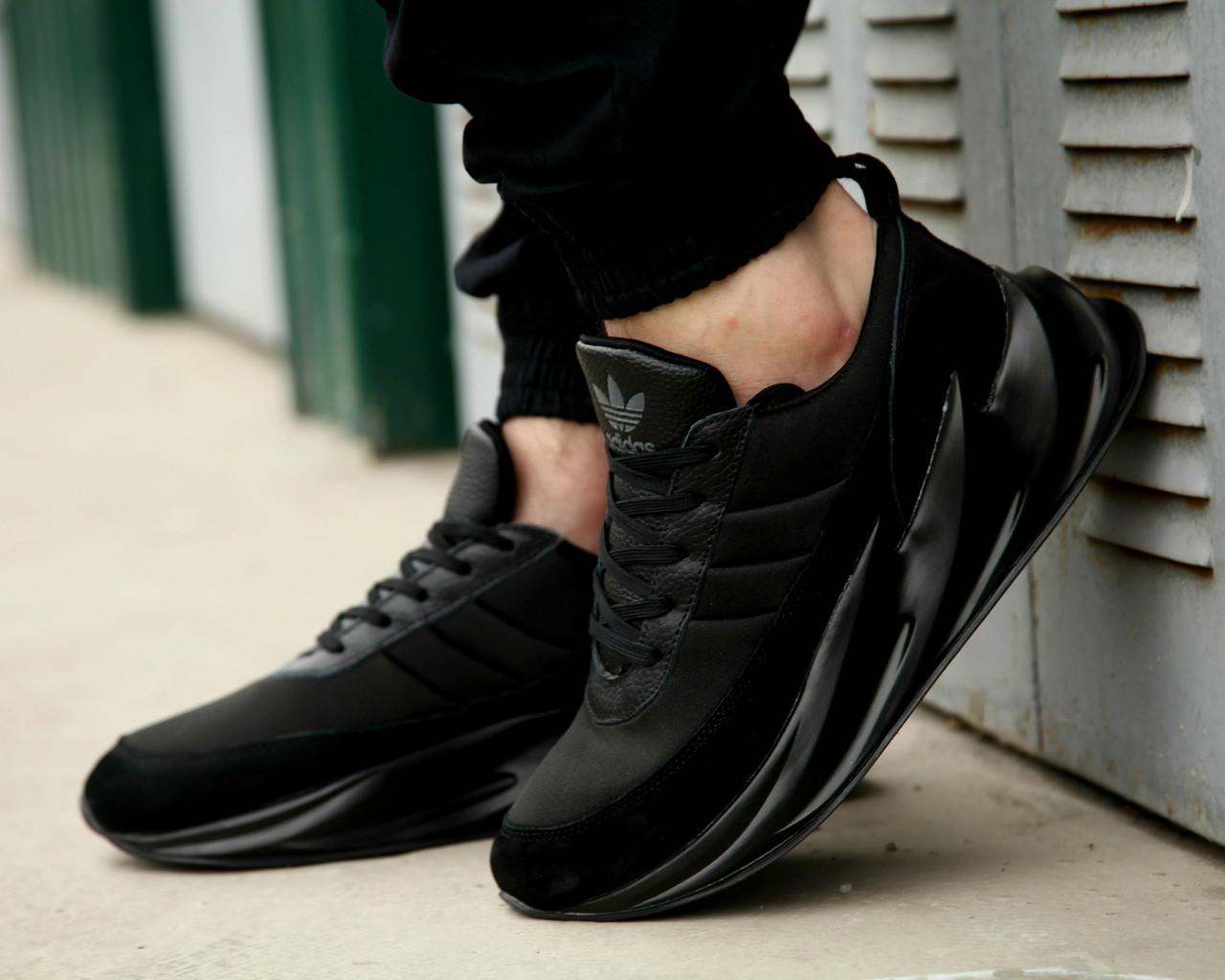 Adidas Sharks All Black (реплика)