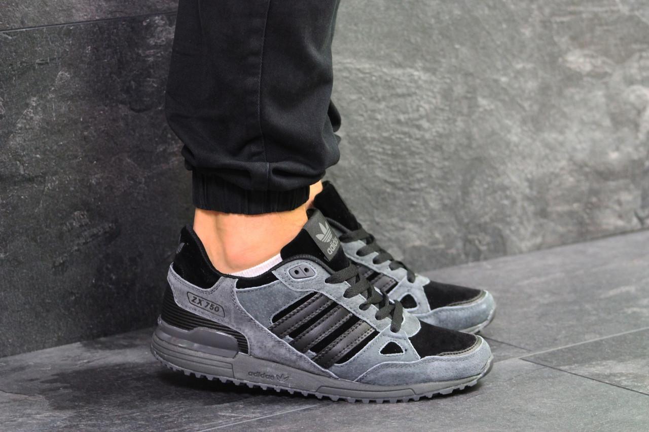 outlet store a8534 12d4d Мужские кроссовки Adidas ZX 750 Gray Black 46