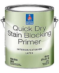 Грунтовка Quick Dry Stain Sherwin-Williams белая, 3,72л (грунт квик драй шервин вильямс)