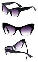 Женские солнцезащитные дизайнерские очки в стиле ретро, матовая оправа, материал Soft-touch , фото 1