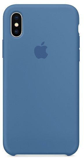 Чохол Silicone Case Apple iPhone X (Denim Blue)