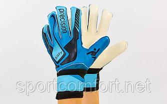 Воротарські рукавички юніорські Precision 5-ка, (із захисними вставками на пальцях)