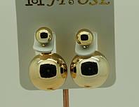 Золотой Dior. Cерьги пусеты. Бижутерия оптом от 600 грн. 37