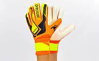 Вратарские перчатки Precision 5-ка, 6-ка, 7-ка (с защитными вставками на пальцах)