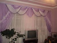 Комплект ламбрекен с шторами на карниз 4м. №28