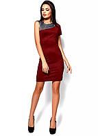РАСПРОДАЖА!  Силуэтное платье с одним коротким рукавом