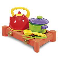 Газова плита, чайник, катруля (5 предметів) 0415 Юніка