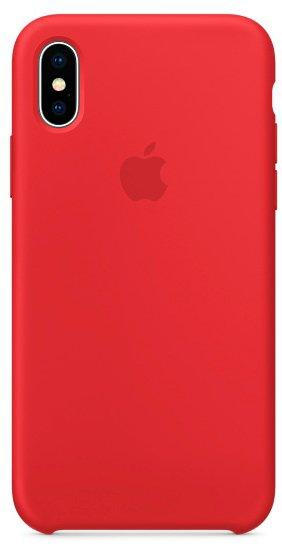 Чехол Silicone Case Apple iPhone X (Product Red)