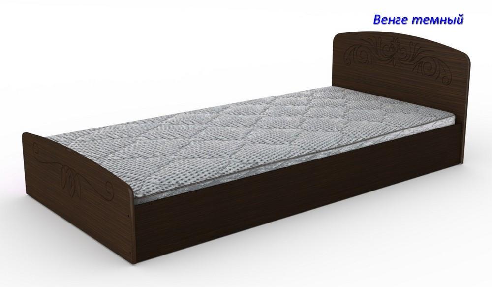 Односпальная кровать Нежность- 90 МДФ