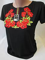 Вышитые футболки гладью для женщин., фото 1