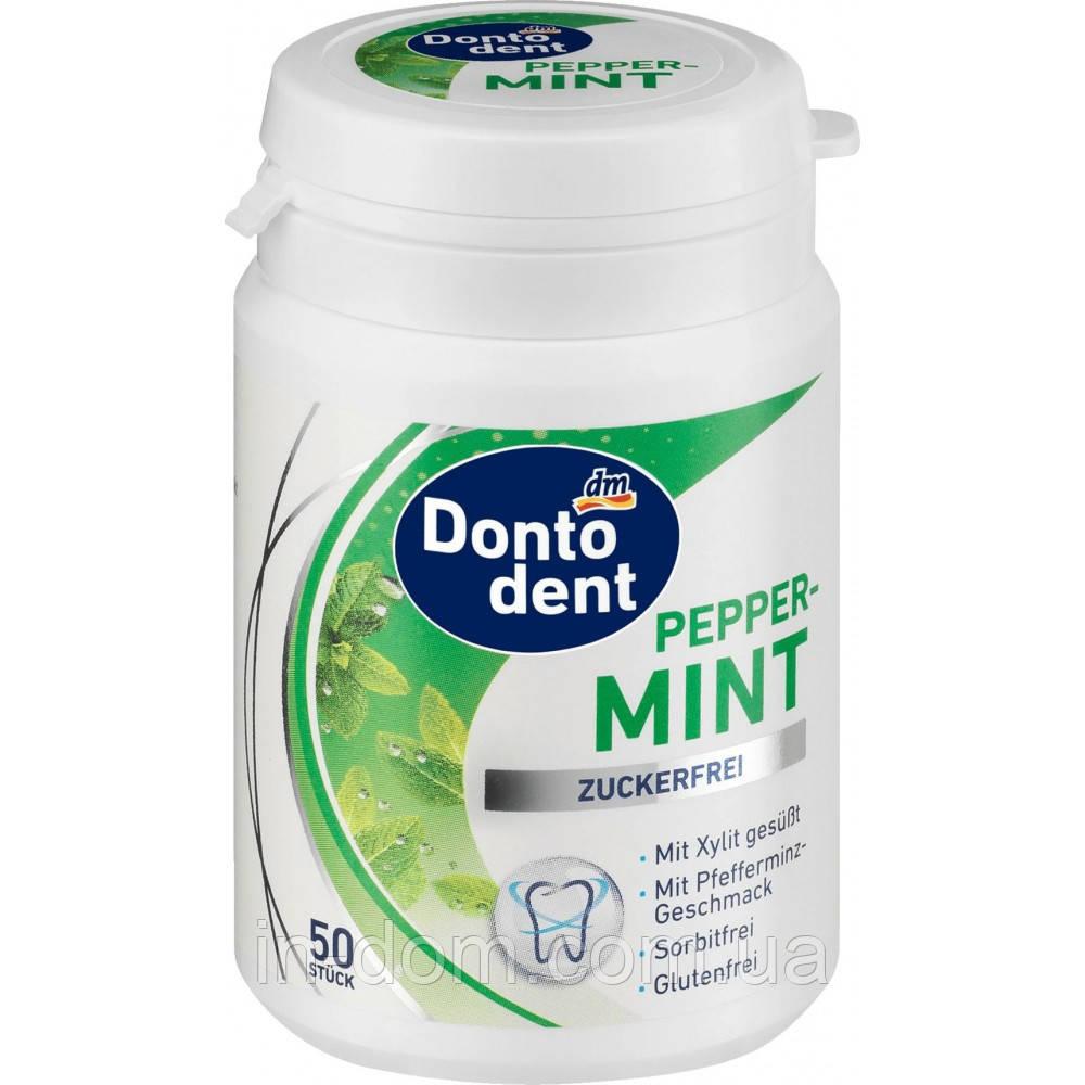 Dontodent Pepper Mint жевательные резинки Перечная мята 50 шт.