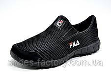 Кроссовки унисекс в стиле Fila, без шнурков (Slip On) Фила, фото 3