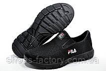 Кроссовки унисекс в стиле Fila, без шнурков (Slip On) Фила, фото 2