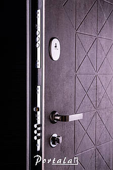 Двери квартирные, серия Люкс+Кале, модель Граф4/Граф2, гнутый профиль, коробка 100 мм, полотно 76 мм, KALE, фото 2