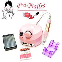 Фрезер для маникюра Nail Drill ZS-601(35 тысяч оборотов,35 ватт)Розовый