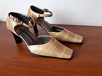 Женские туфли коричневые на каблуках, фото 1