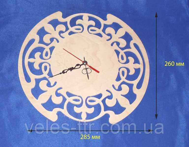 Годинник Різьблені 28.5х26 см Фанера заготівля для декору