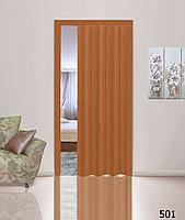 Дверь гармошкой глухая. Цвет: вишня №501 2030мм/810мм/1мм