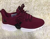 Женские кроссовки, демисезонные, реплика фирмы Adidas бордовые