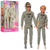 Набор кукол семья - кукла типа барби и кен на пробежке в спортивных костюмах серия Дефа Defa,8360-BF