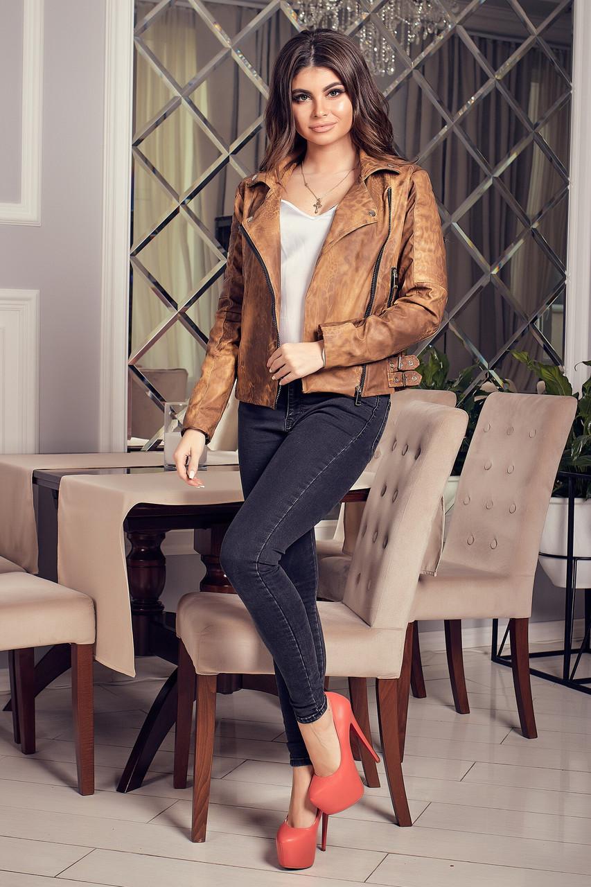 Куртка-косуха из эко кожи женская
